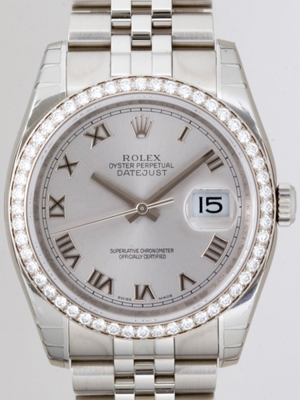 Rolex Datejust Men's 116244 Diamond Bezel Watch