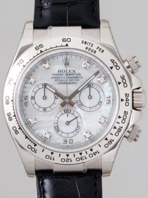 Rolex Daytona 116519 Leather Band Watch