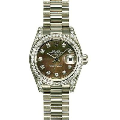 Rolex President Ladies 179159 Black Dial Watch