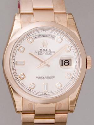 Rolex President Men's 118205 White Dial Watch