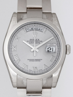 Rolex President Men's 118209 Silver Dial Watch