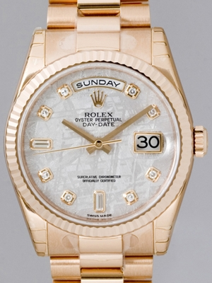 Rolex President Men's 118235 White Dial Watch