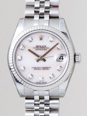 Rolex President Midsize 178274 White Dial Watch