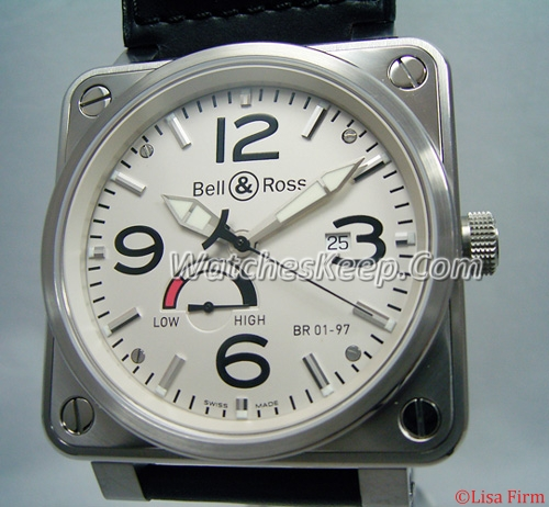 Bell & Ross BR01 BR01-97 PowerReserve Mens Watch