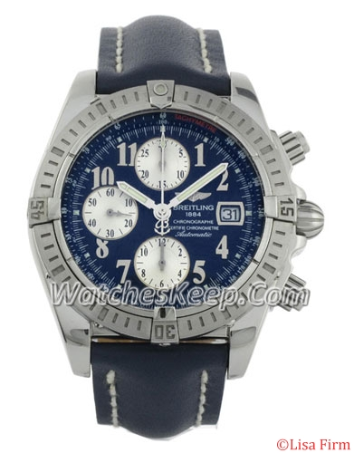 Breitling Chronomat A13356 Blue Band Watch