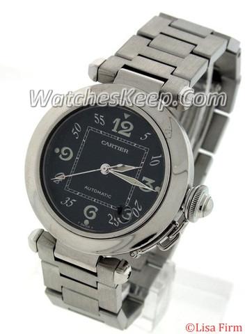 Cartier Pasha W31074M7 Black Dial Watch