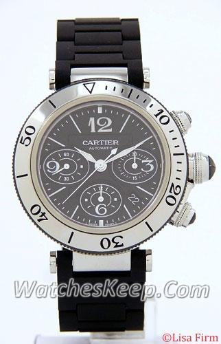 Cartier Pasha w31088U2 Grey Dial Watch