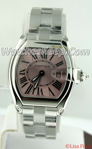 Cartier Roadster W62017V3 Pink Dial Watch