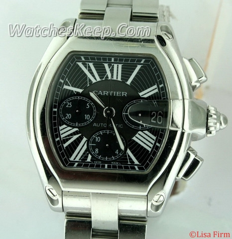 Cartier Roadster W62019X6 Stainless Steel Band Watch