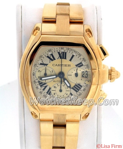 Cartier Roadster W62021Y3 Yellow Dial Watch