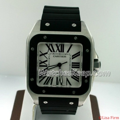 Cartier Santos 100 W20121U2 Mens Watch