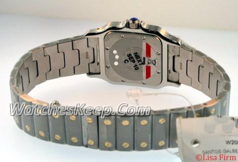 Cartier Santos W20011C4 White Dial Watch