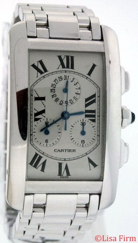 Cartier Tank Americaine W26033L1 Mens Watch