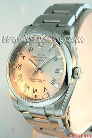 Rolex Airking 114200 Beige Band Watch