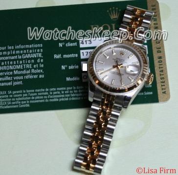 Rolex Datejust Ladies 179173 Silver Dial Watch
