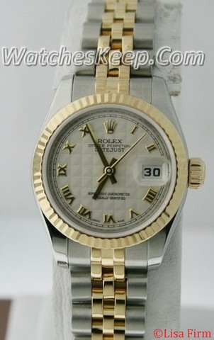 Rolex Datejust Ladies 179173 Yellow Gold Bezel Watch