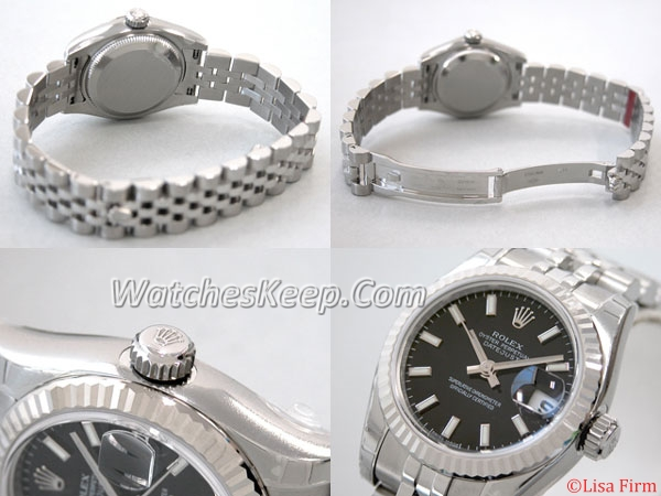 Rolex Datejust Ladies 179174 Stainless Steel Band Watch