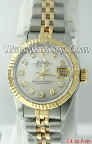 Rolex Datejust Ladies 67173 Diamond Dial Watch