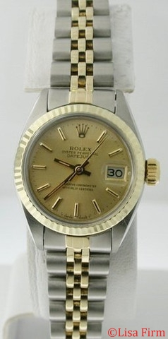 Rolex Datejust Ladies 69173 Beige Dial Watch