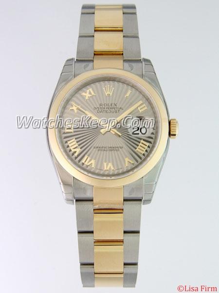 Rolex Datejust Men's 116203 Grey Dial Watch