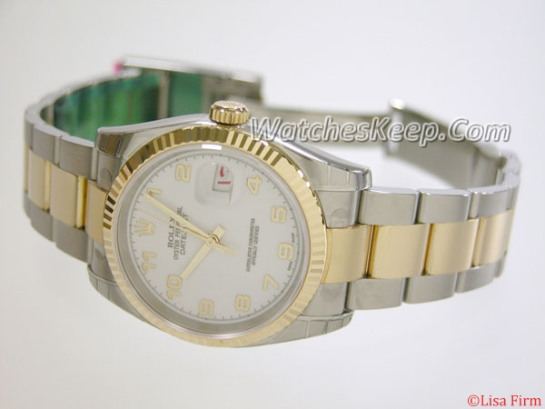 Rolex Datejust Men's 116233 White Dial Watch