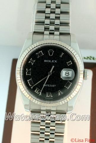 Rolex Datejust Men's 116234 Beige Band Watch