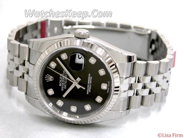 Rolex Datejust Men's 116234 Ceramic Bezel Watch
