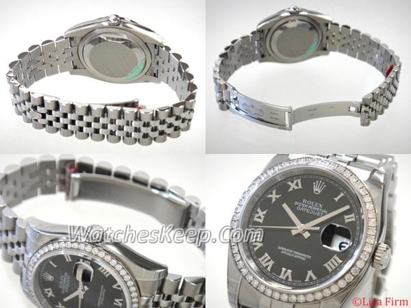 Rolex Datejust Men's 116244 White Gold Case Watch