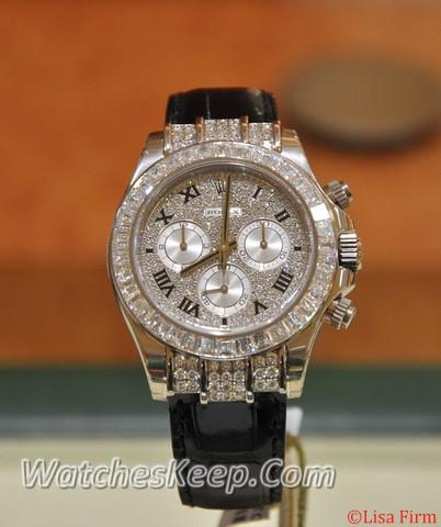 Rolex Daytona 116519 Diamond Bezel Watch