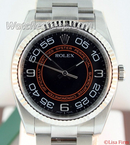 Rolex Oyster Perpetual 116034 Black Dial Watch