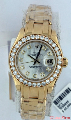 Rolex Pearlmaster - Ladies 80298 Yellow Band Watch