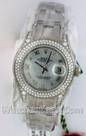 Rolex Pearlmaster - Ladies 80359 Diamond Dial Watch