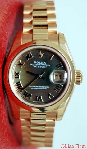 Rolex President Ladies 179165 Black Dial Watch