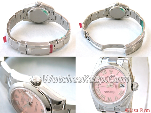Rolex President Midsize 179160 Pink Dial Watch