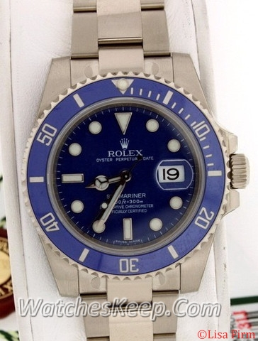 Rolex Submariner 116619LB Blue Dial Watch